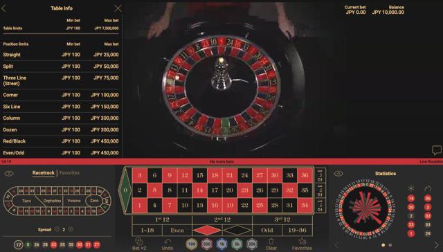 NetEnt Roulette:ネットエントルーレット│ウィリアムヒルライブカジノ