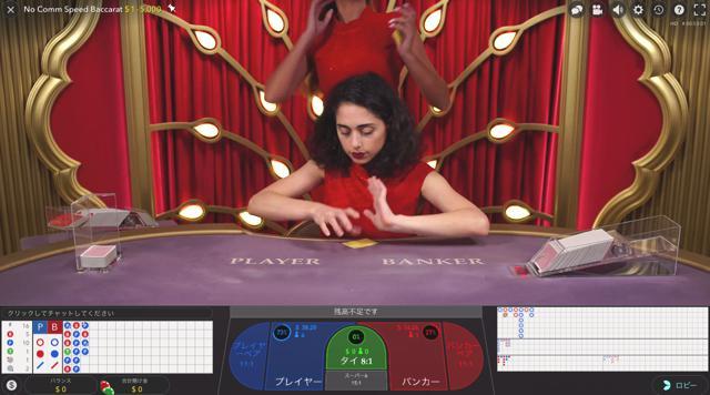 ラッキーカジノのノーコミッションスピードバカラのテーブルリミットは?