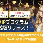 エルドアカジノの新VIPプログラムはローリングチップが追加!
