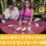 メタルカジノのライブブラックジャックは万ドルベットでハイローラー対応?