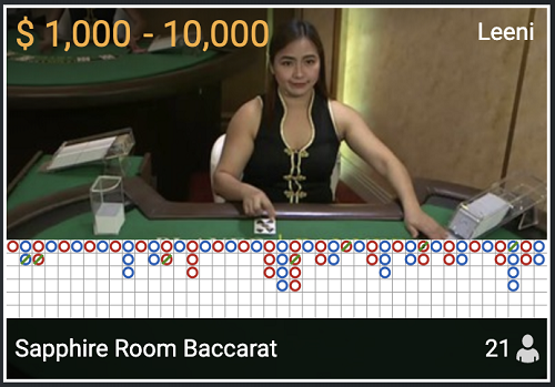 カリビアンカジノはライブバカラで万ドルベットできる!