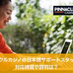 ピナクルカジノの日本語サポートスタッフの対応時間や評判は?
