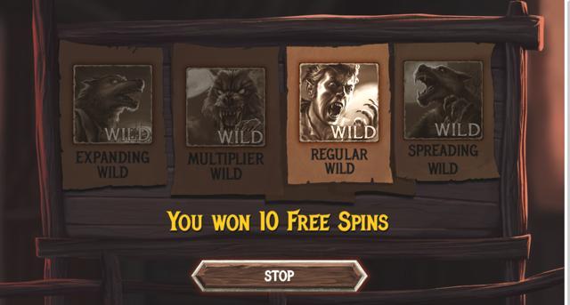 The Wolf's Baneのボーナスゲームのプレイ画像 1