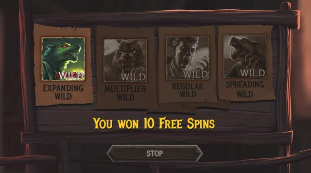 The Wolf's Baneのボーナスゲームのプレイ画像 6