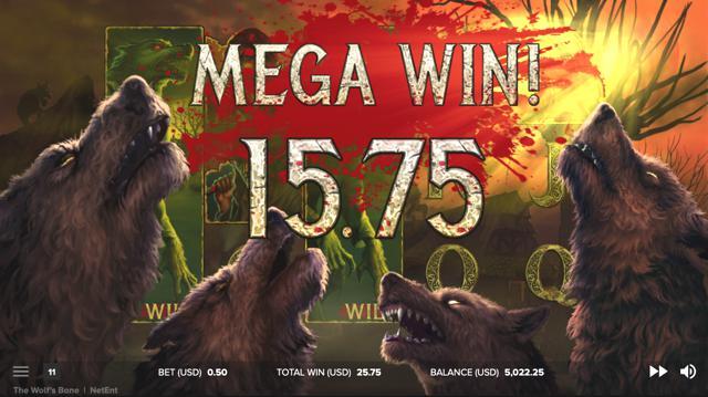 The Wolf's Baneのボーナスゲームのプレイ画像 7