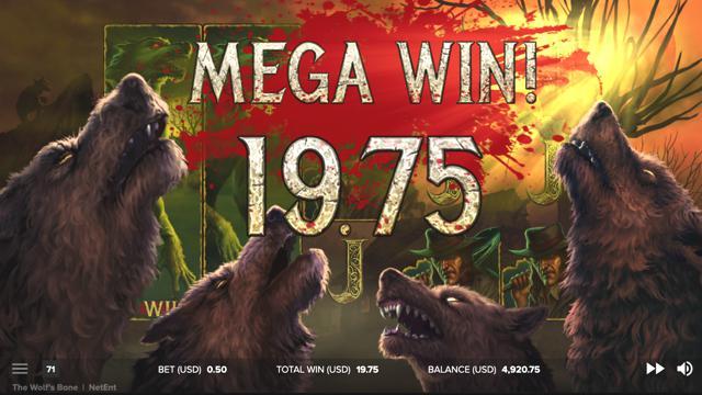 The Wolf's Baneのボーナスゲームのプレイ画像12