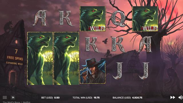 The Wolf's Baneのボーナスゲームのプレイ画像 13
