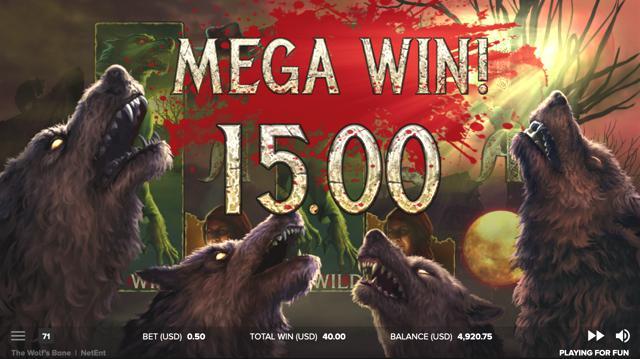 The Wolf's Baneのボーナスゲームのプレイ画像 14
