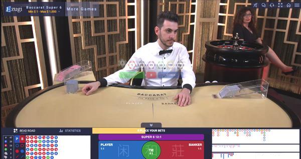 ピナクルカジノ イズギ Baccarat Super6のテーブルリミットは?