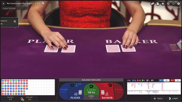ピナクルカジノ No Commission Baccarat(ノーコミッションバカラ)のテーブルリミットは?