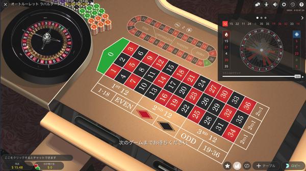 オムニアカジノ オートルーレット ラパルタージュのテーブルリミットは?