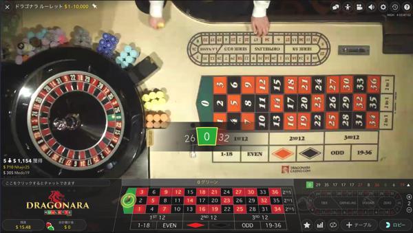 オムニアカジノ ドラゴナラ ルーレットのテーブルリミットは?