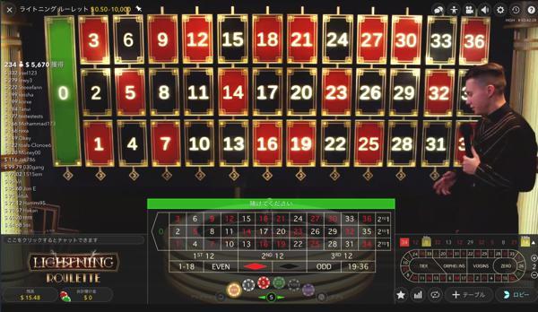 オムニアカジノ ライトニング ルーレットのテーブルリミットは?