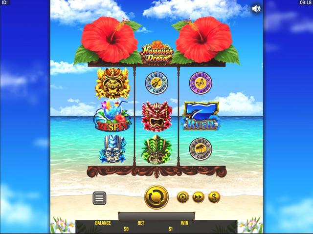 ライブカジノハウス 平均ペイアウト率ランキング10位 Hawaiian Dream(Golden Hero Games)