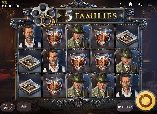 Redtiger社の5 Familiesのスロットの特徴や基本情報は?