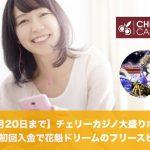 【9月20日まで】チェリーカジノ大盛りボーナス初回入金で花魁ドリームのフリースピン