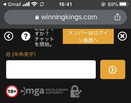 スマホやタブレット端末からウイニングキングスに会員登録する方法 その3