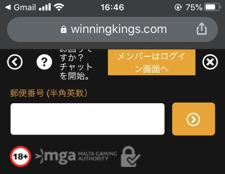 スマホやタブレット端末からウイニングキングスに会員登録する方法 その9