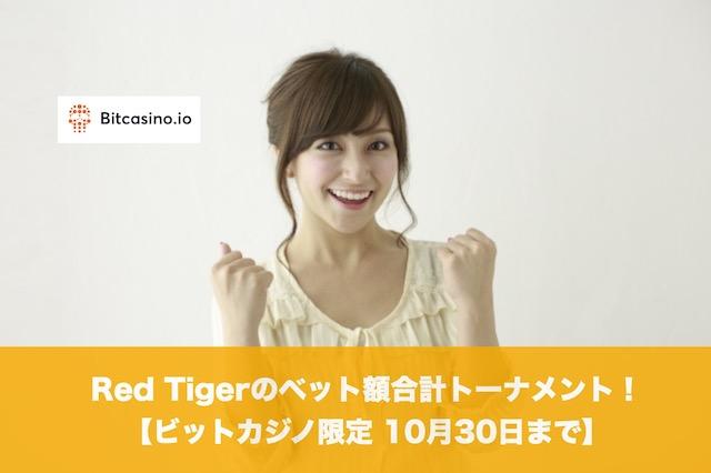 【10月30日まで】ビットカジノ限定 Red Tigerのベット額合計トーナメント!
