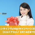 【2月14日まで】エルドアカジノでバレンタインTwitterキャンペーン2021