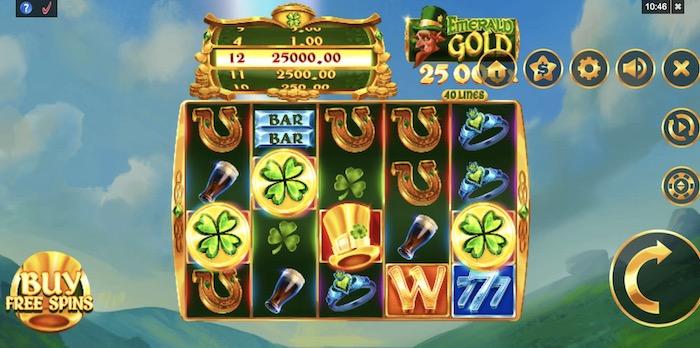Emerald Goldとはどんなスロットゲームか?