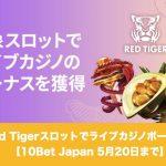 【5月20日まで】10Bet JapanのRed Tigerスロットでボーナス!