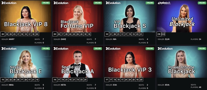 ボンズカジノでライブブラックジャックがプレイできるゲーミングプロバイダーはどこか?