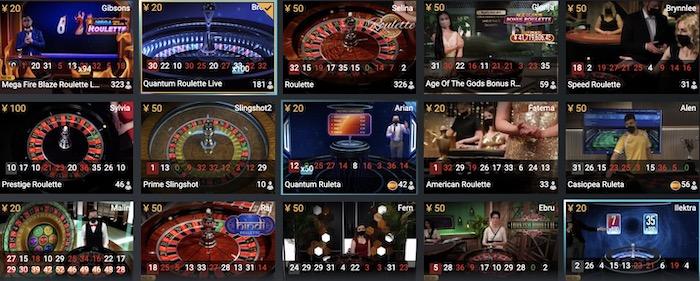 プレイテック社(Playtech)のライブルーレットテーブルの詳細│ボンズカジノ