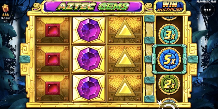 Aztec Gems(アズテック ジェムズ)の基本スペックや平均ペイアウト率は?