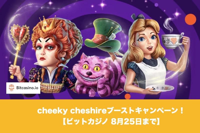 【8月25日まで】ビットカジノでcheeky cheshireブーストキャンペーン開催!