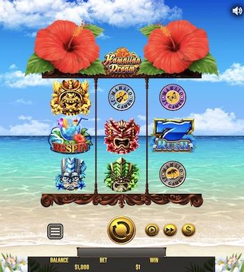 ハワイアンドリーム(Hawaiian Dream)│ベラジョンカジノの面白いスロットゲーム