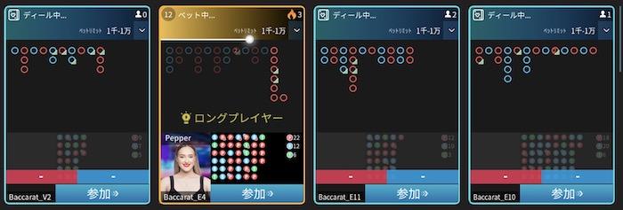 マイクロゲーミング社(Micro Gaming)のライブバカラテーブル情報 │遊雅堂