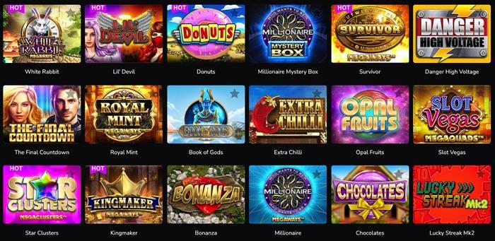 ワンダーカジノでプレイ可能なBIg Time Gaming(ビッグタイムゲーミング)社のスロットゲームは?