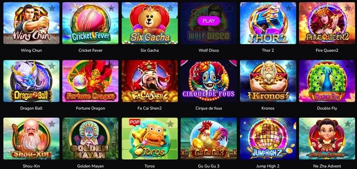 ワンダーカジノでプレイ可能なCQ9 GAMING(シーキューナイン ゲーミング)社のスロットゲームは?