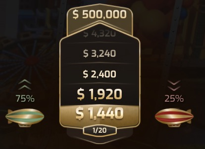 Cash or Crash(キャッシュ オア クラッシュ)はゲームごとに決定できる