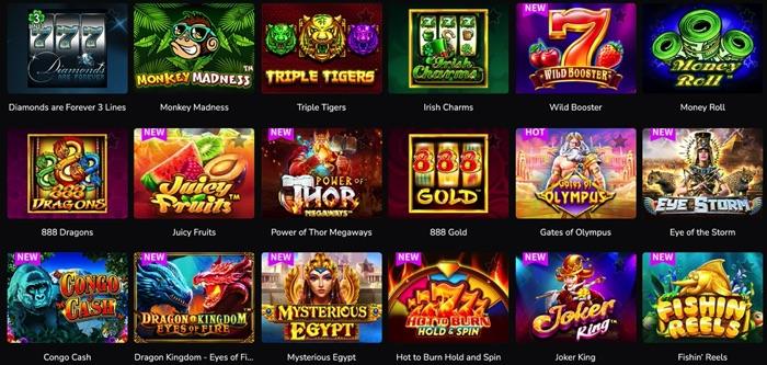 ワンダーカジノでプレイ可能なPRAGMATIC PLAY(プラグマティック プレイ)社のスロットゲームは?