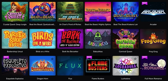 ワンダーカジノでプレイ可能なTHUNDERKIC(サンダーキック)社のスロットゲームは?