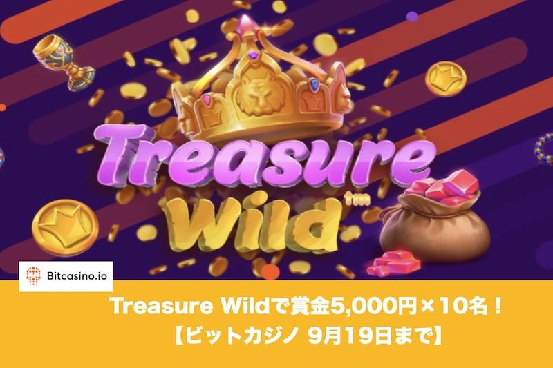 【9月19日まで】ビットカジノのTreasure Wildで賞金5,000円!
