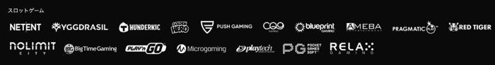 ワンダーカジノでプレイ可能なスロットのゲーミングプロバイダー一覧