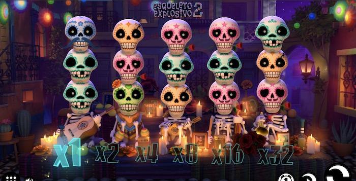 エスケレト・エクスプレシーボ 2(Esqueleto Explosivo 2)│クイーンカジノおすすめスロット